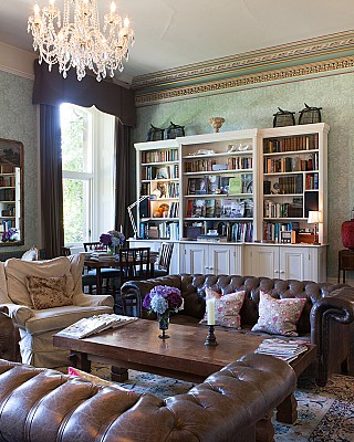 The drawing room at Ballyvolane, perfect for house parties