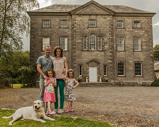 Paddy, Hannah & family, Roundwood House