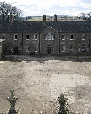 The courtyard at Ash Hill House
