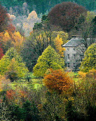 A view of Roundwood House and the stunning surroundings in Autumn