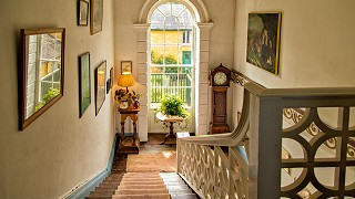 The main staircase at Roundwood House
